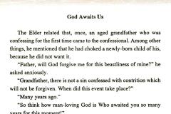 God awaits our repentance