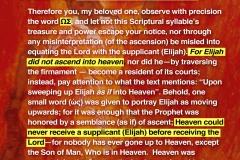 Did Elijah go up to heaven?