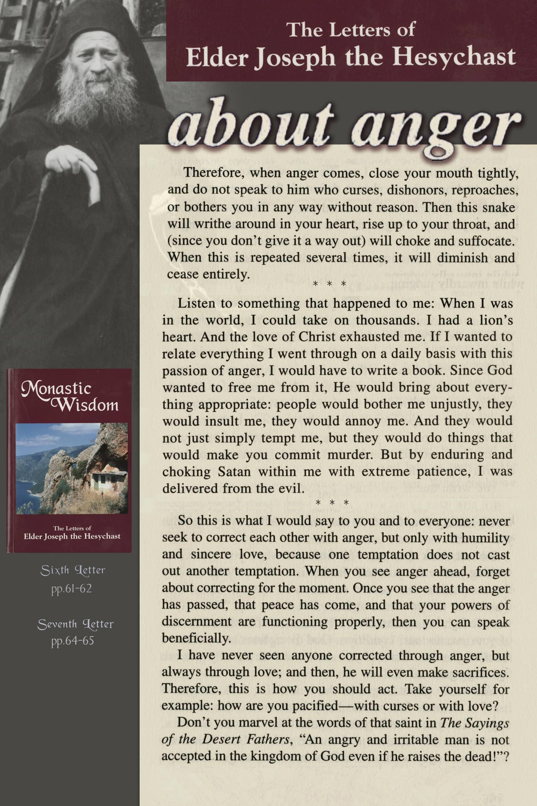Saint Joseph - about anger